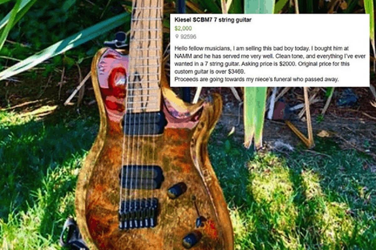 Un homme vend sa guitare pour financer les funérailles de sa nièce (aidez-le avec le GoFundMe dans l'article)