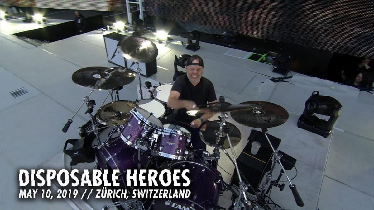 Metallica publie une vidéo live de Disposable Heroes à Zurich