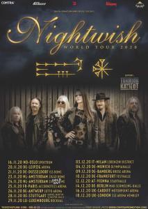 Nightwish annonce 1 concert en France ! (Tournée européenne 2020)