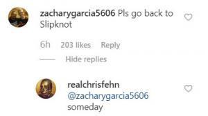 """Chris Fehn dit qu'il reviendra dans Slipknot """"un jour"""""""