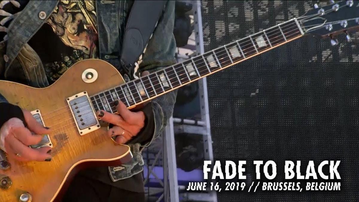 Metallica sort une vidéo live de Fade To Black à Bruxelles