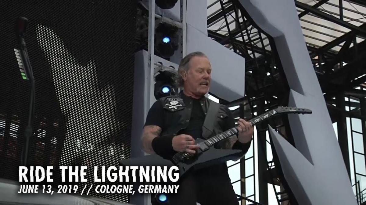 Metallica diffuse une vidéo live de Ride The Lightning à Cologne