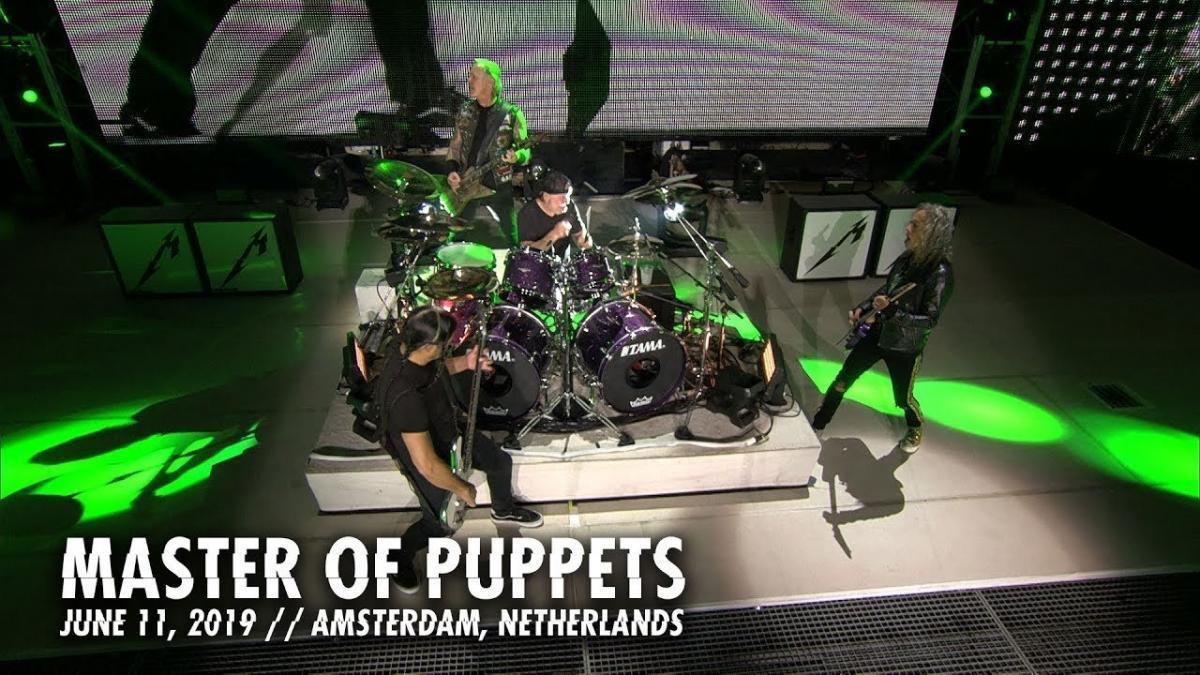 Metallica publie une vidéo live de Master Of Puppets à Amsterdam