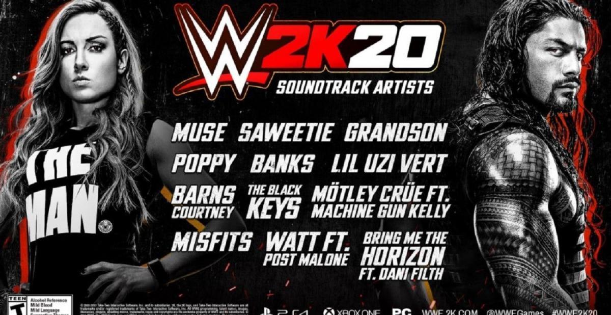 Muse, Bring Me the Horizon, The Misfits, Motley Crue et Poppy feront partie de la bande son du jeu vidéo WWE 2K20