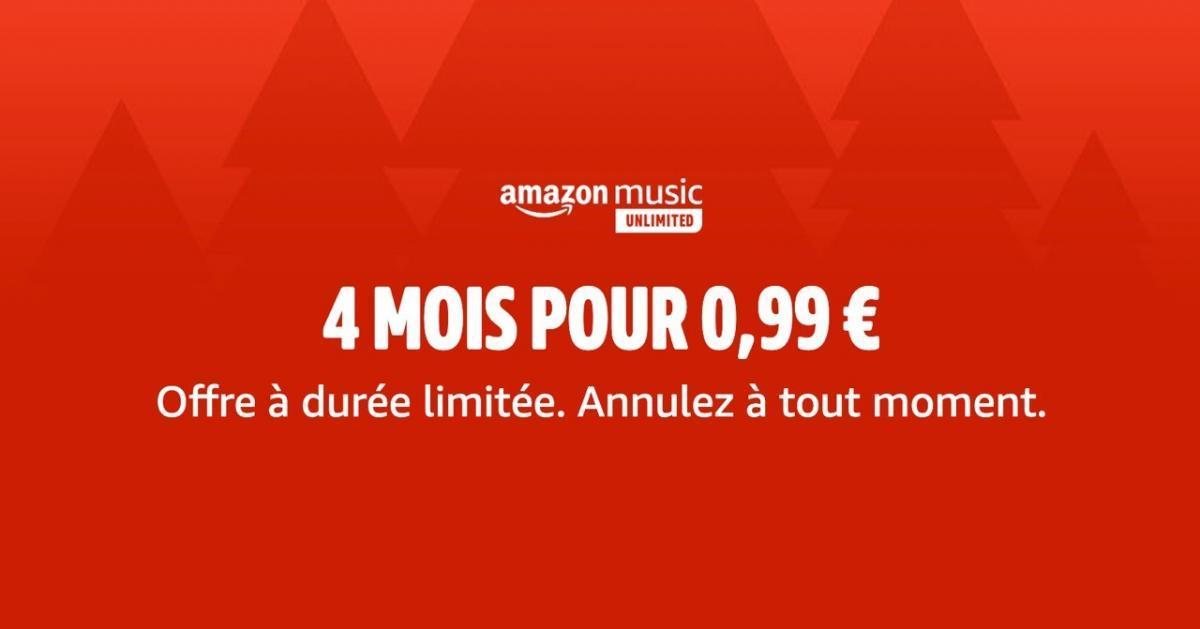 Offre à durée limitée : 4 mois d'Amazon Music Unlimited pour 0,99€