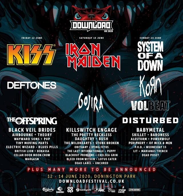 Le Download Festival UK 2020 annonce plus de groupes ! (Volbeat, Killswitch Engage, Babymetal, Periphery et bien d'autres)