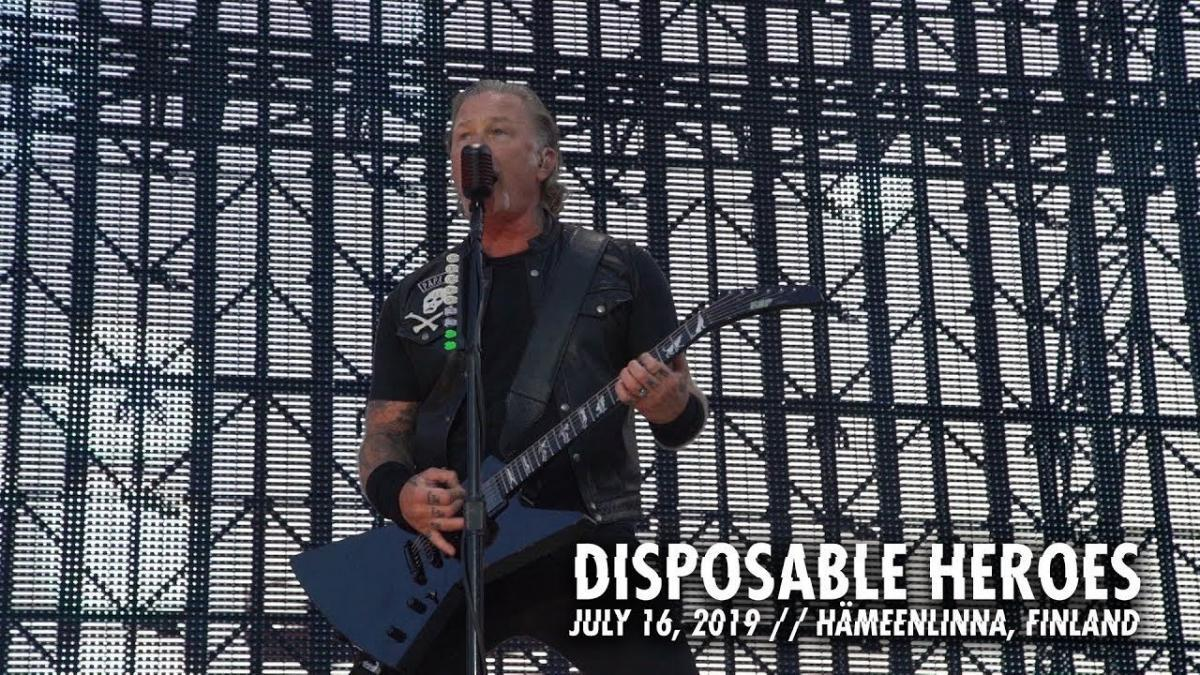 Metallica publie une vidéo live de Disposable Heroes à Hämeenlinna
