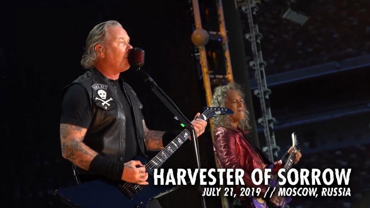 Metallica publie une vidéo live de Harvester Of Sorrow à Moscou