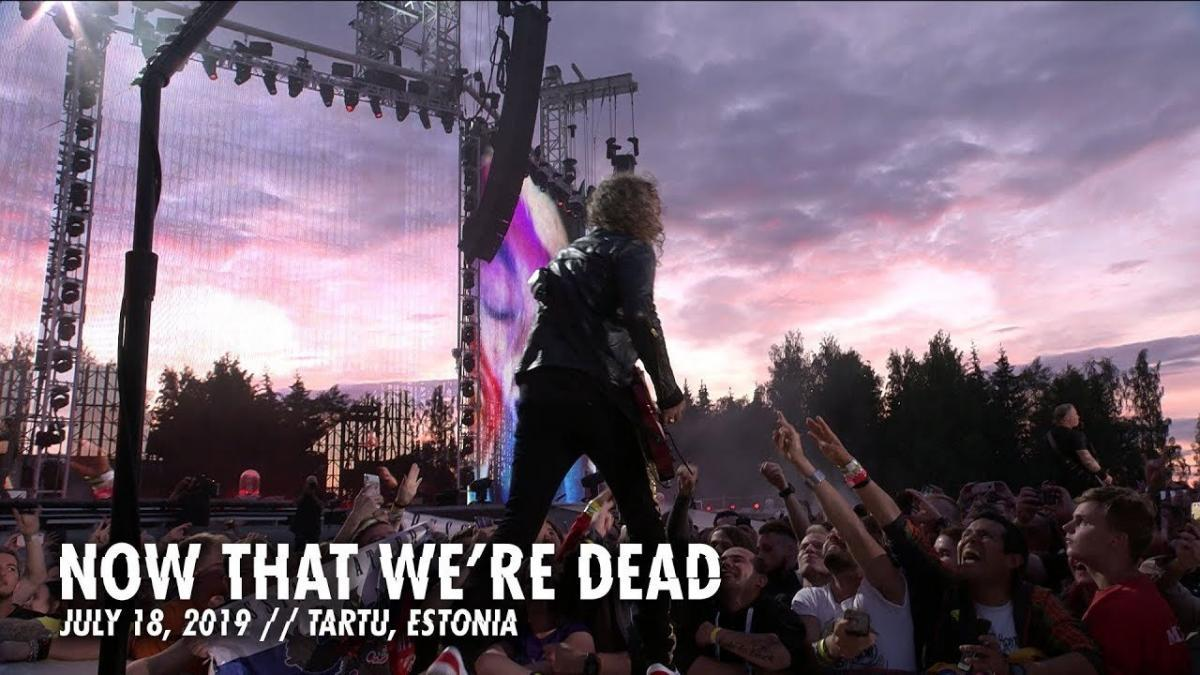 Metallica partage une vidéo live de Now That We're Dead à Tartu