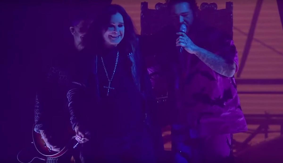 Ozzy Osbourne partage une vidéo live de son retour sur scène avec Post Malone