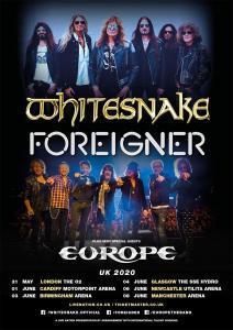 Whitesnake, Foreigner et Europe s'allient afin de réaliser une belle tournée pour les fans de Rock au Royaume-Uni