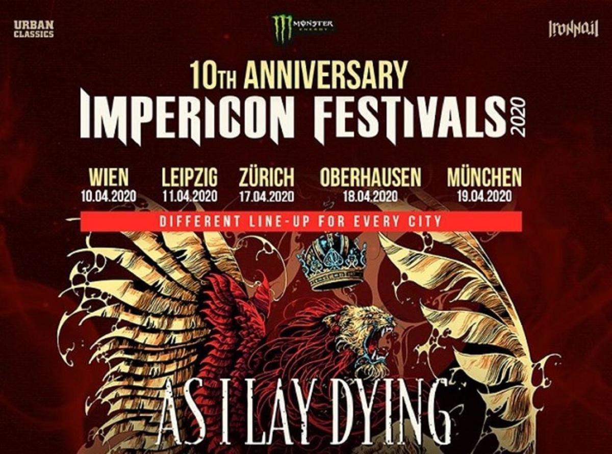 De nouveaux groupes de Metal ont été annoncés pour les festivals Impericon de 2020