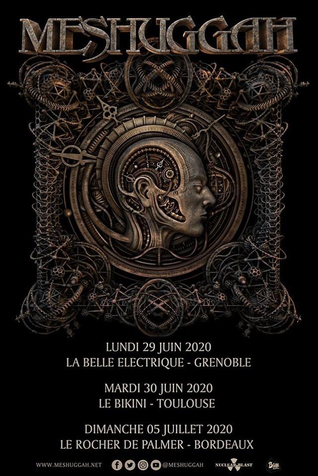 Meshuggah annonce 3 concerts en France pour 2020