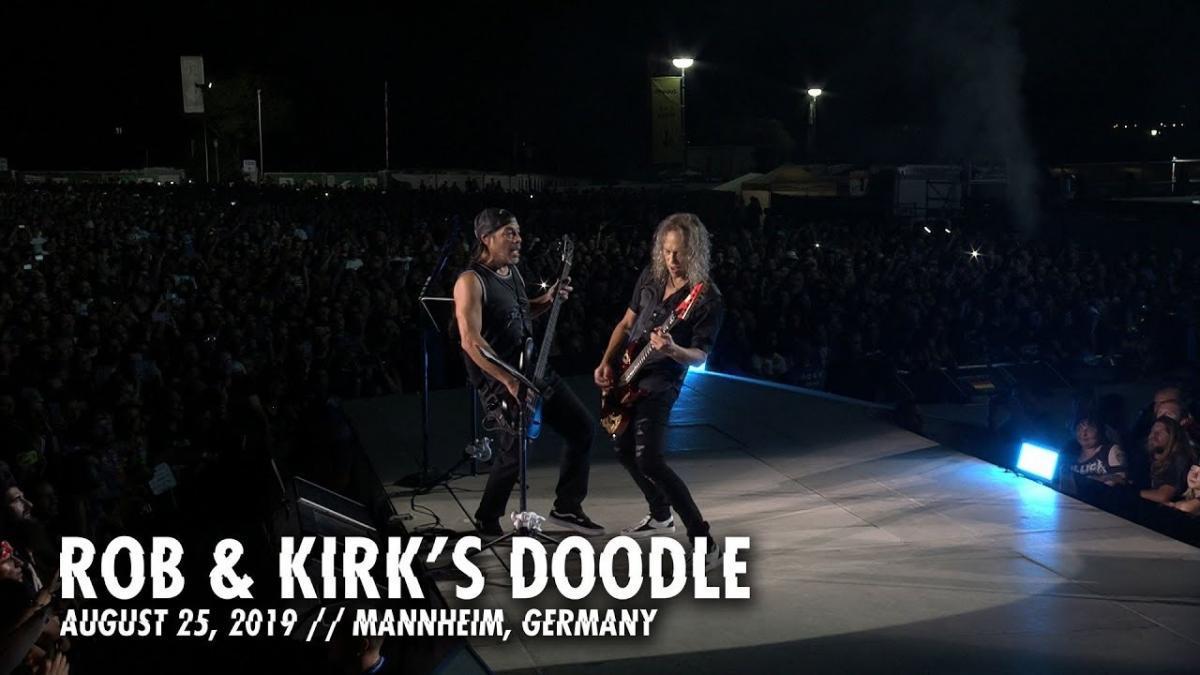 Metallica partage un nouveau doodle de Rob & Kirk à Mannheim