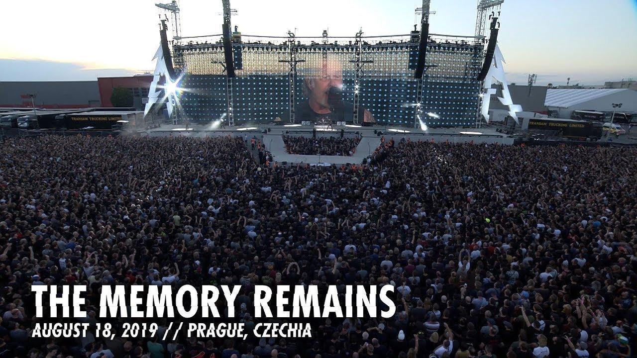 Metallica publie une vidéo live de The Memory Remains à Prague