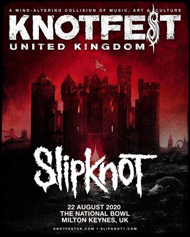 Slipknot annonce le premier Knotfest au Royaume-Uni pour 2020