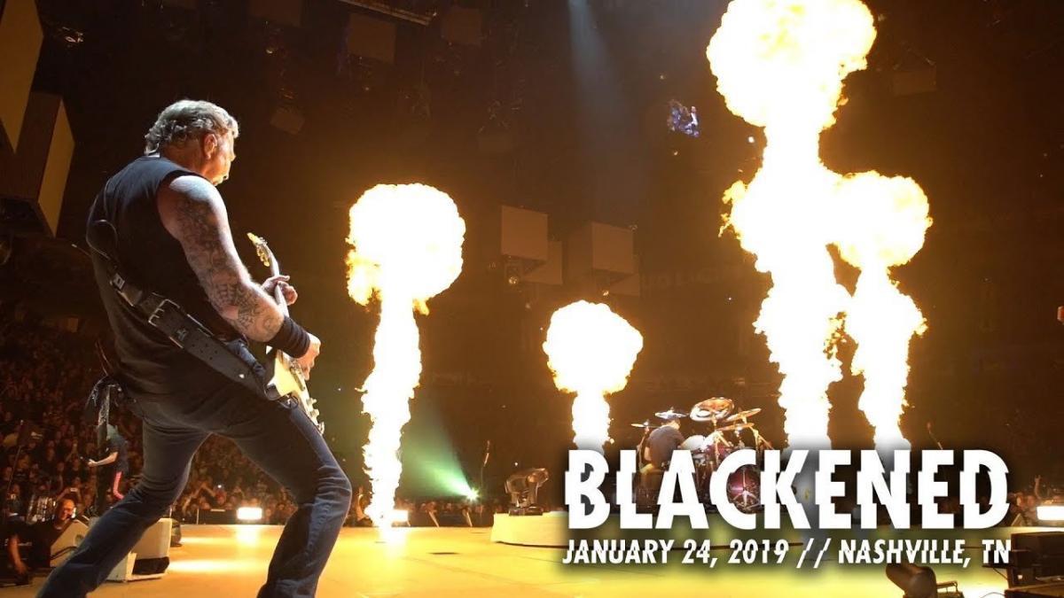 Metallica publie une vidéo live de Blackened à Nashville