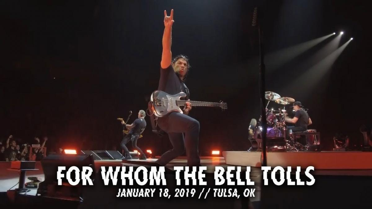 Metallica partage une vidéo live de For Whom The Bell Tolls à Tulsa