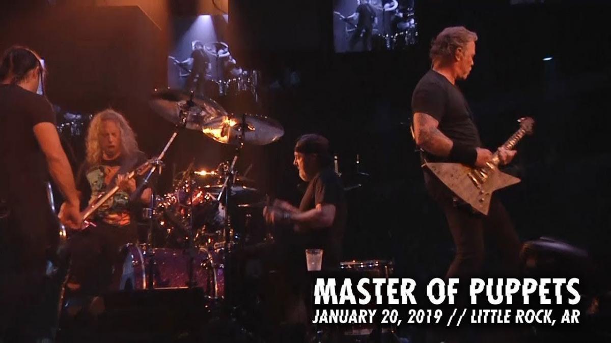 Metallica sort une vidéo live de Master Of Puppets à Little Rock