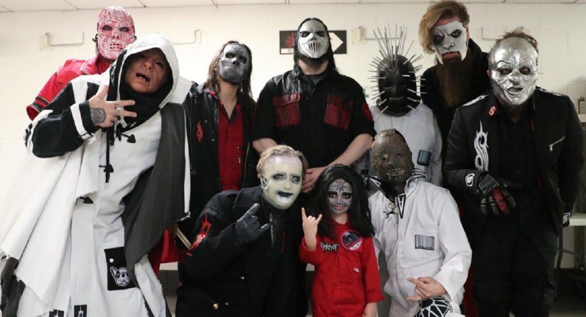 Slipknot : Le batteur de 5 ans rencontre ses idoles