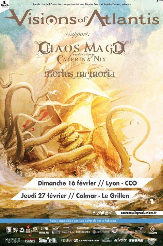Visions Of Atlantis annonce 2 concerts de plus en France pour 2020