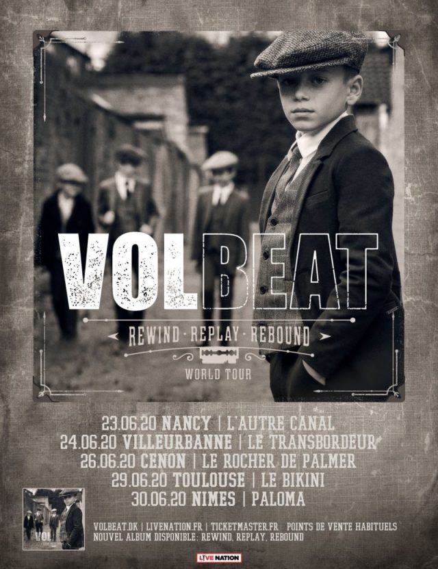 Volbeat annonce 5 concerts en France pour cet été !