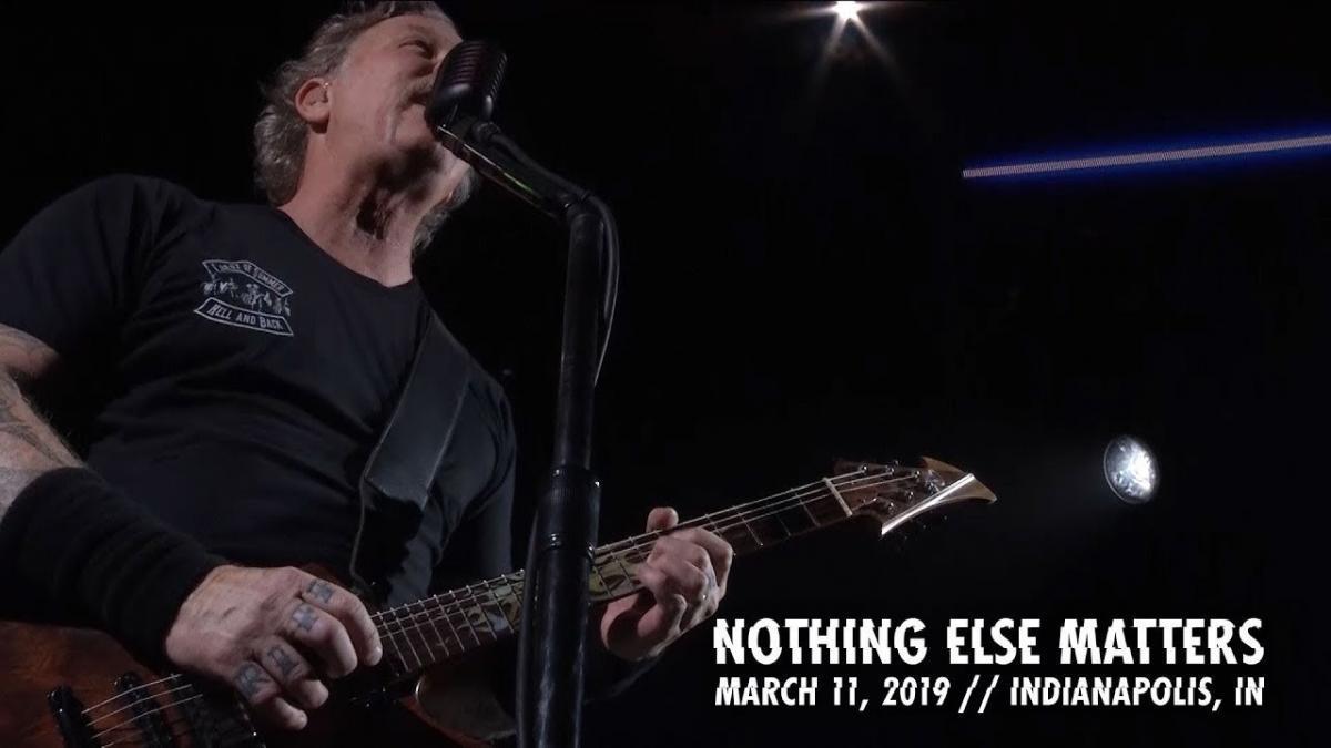 Metallica partage une vidéo live de Nothing Else Matters à Indianapolis
