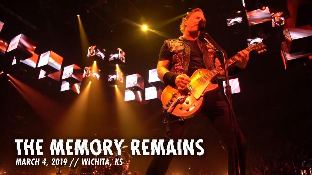 Metallica publie une vidéo live de The Memory Remains à Wichita
