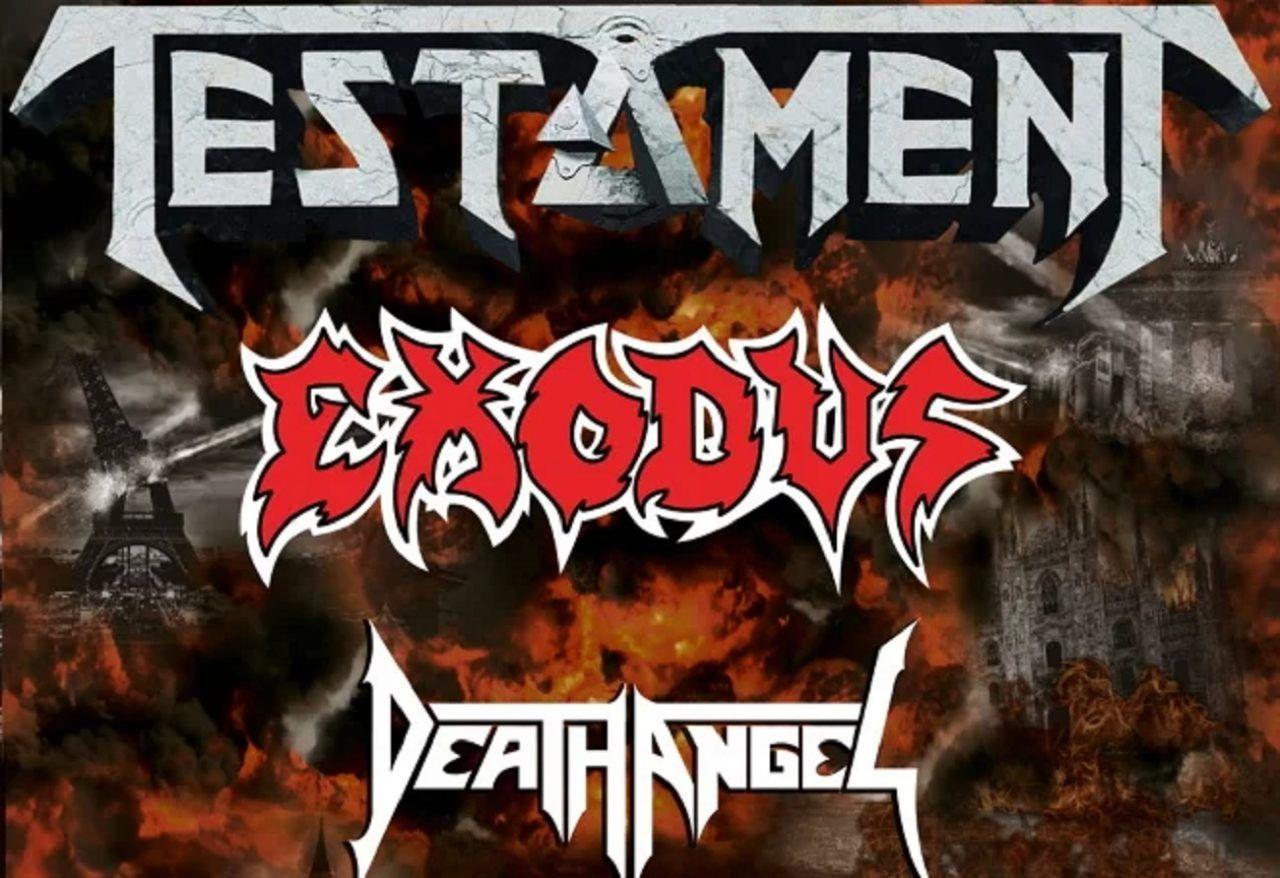L'épidémie de coronavirus en Italie a entraîné l'annulation du concert de Testament, Exodus et Death Angel - MetalZone