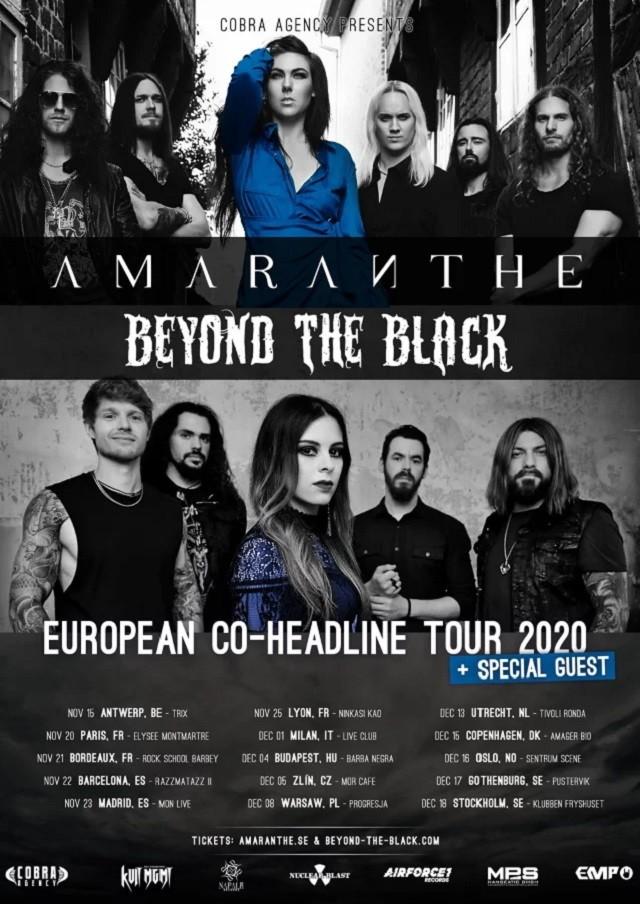 Amaranthe & Beyond The Black annoncent 6 concerts francophones (tournée européenne 2020)