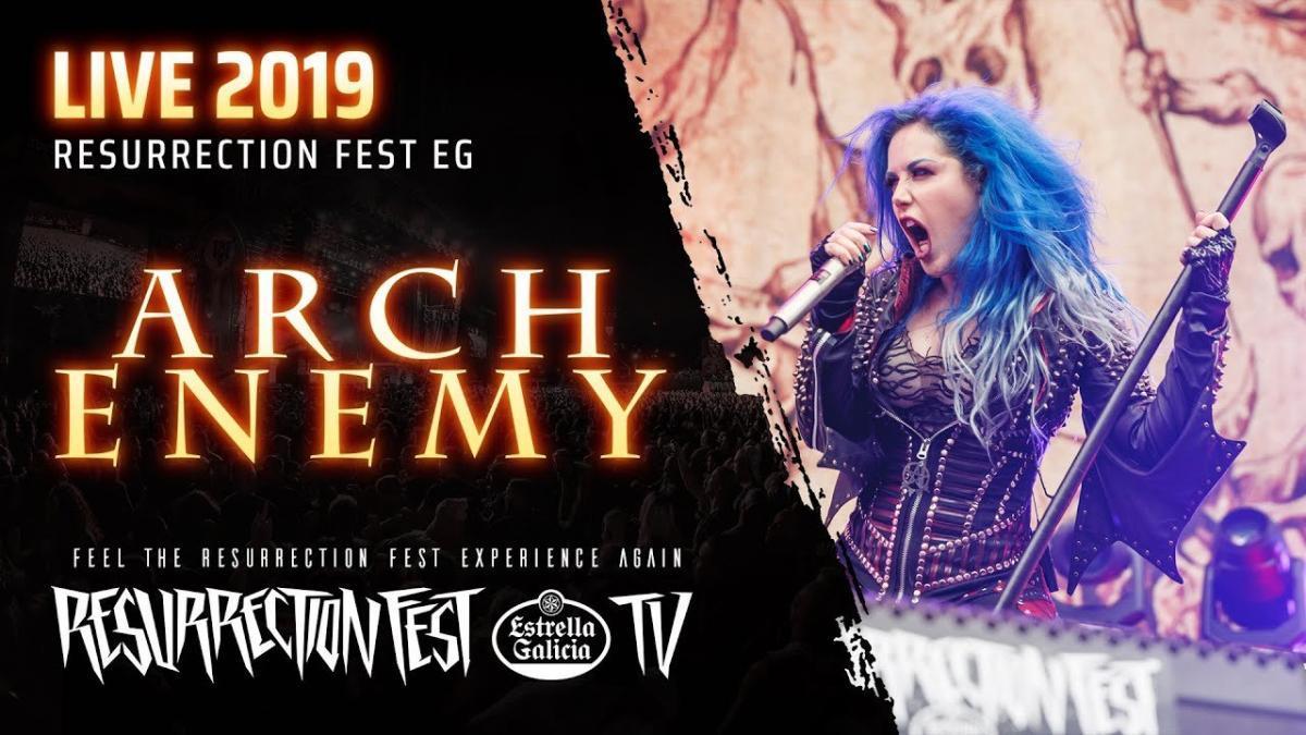 Regardez le concert complet de Arch Enemy au Resurrection Fest 2019