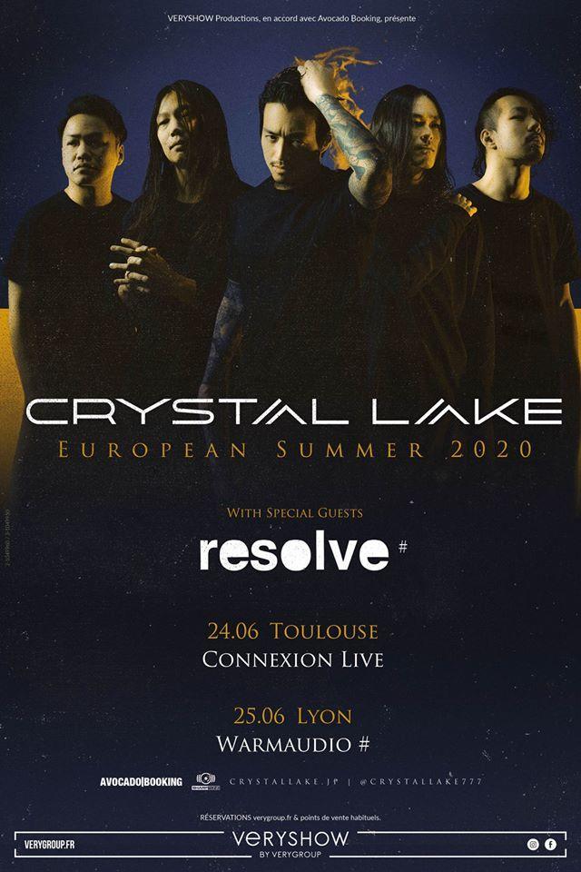 Crystal Lake & Resolve en concert en France fin juin