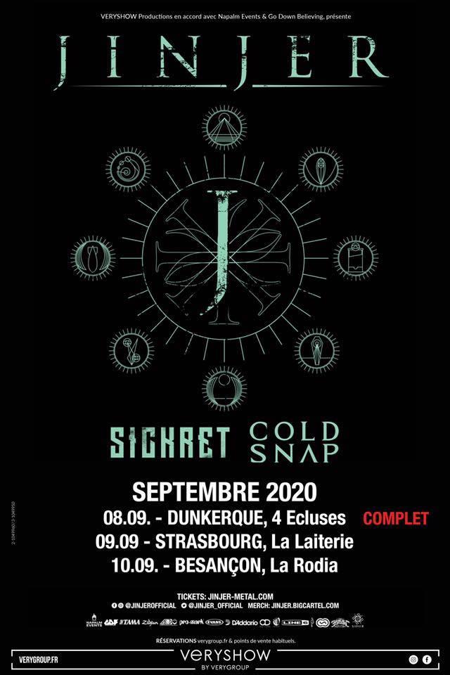 Jinjer annonce les nouvelles dates de ses concerts en France