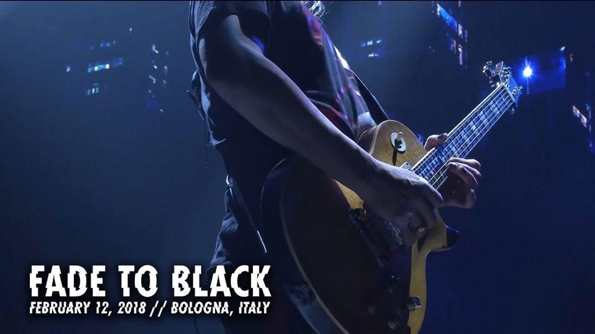 Metallica sort une vidéo live de Fade To Black à Bologne