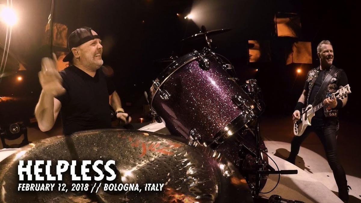 Metallica publie une vidéo live de Helpless à Bologne