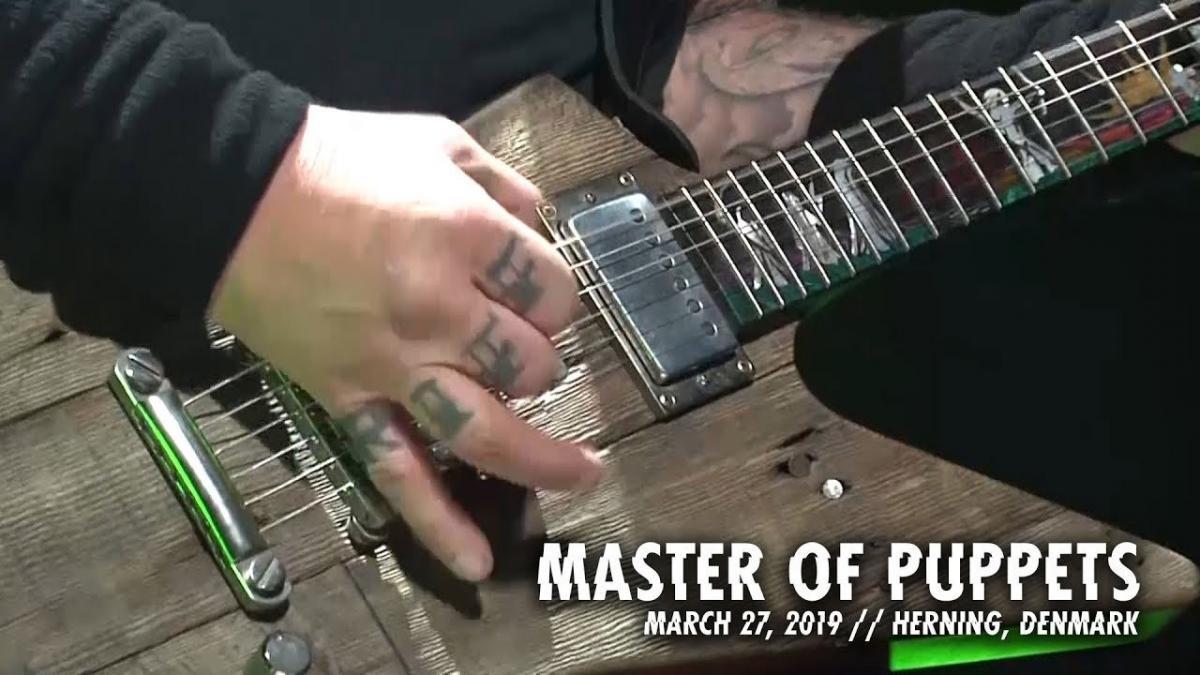 Metallica publie une vidéo live de Master Of Puppets à Herning