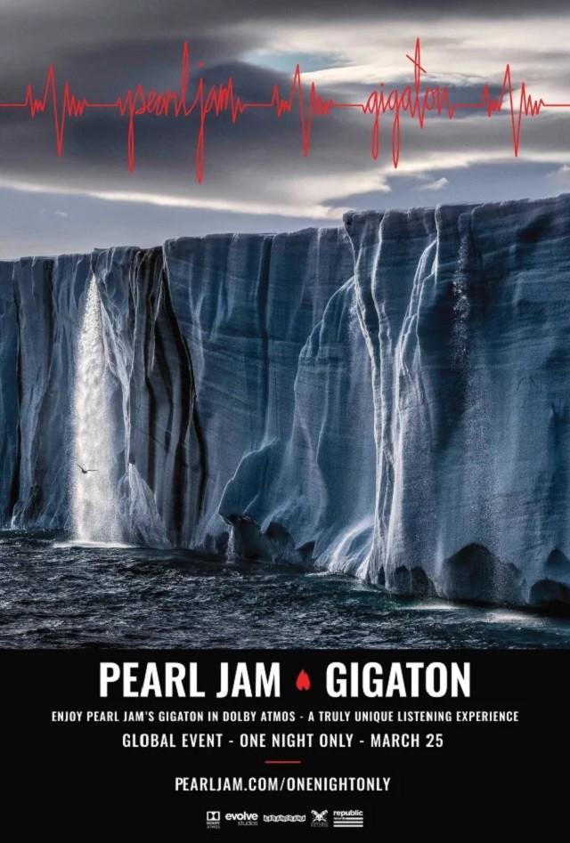 Pearl Jam annonce une listening party pour Gigaton en Dolby Atmos (dans plusieurs cinémas français)