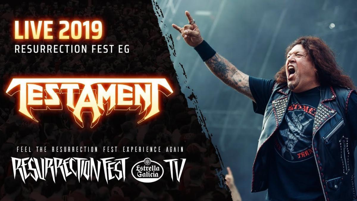 Regardez le concert complet de Testament au Resurrection Fest 2019
