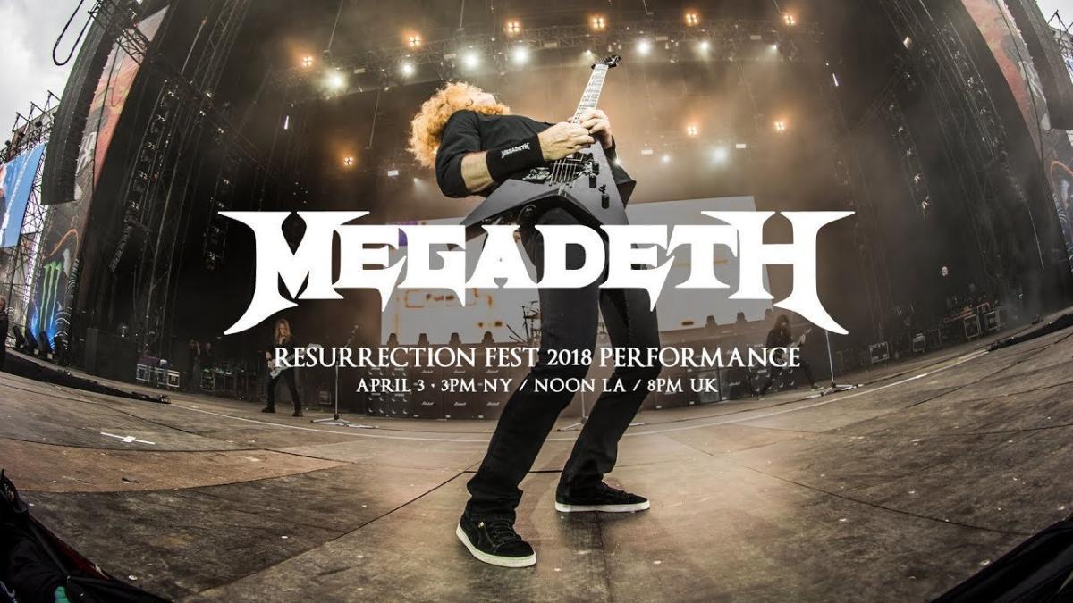 Regardez le concert de Megadeth au Resurrection Fest 2018 !