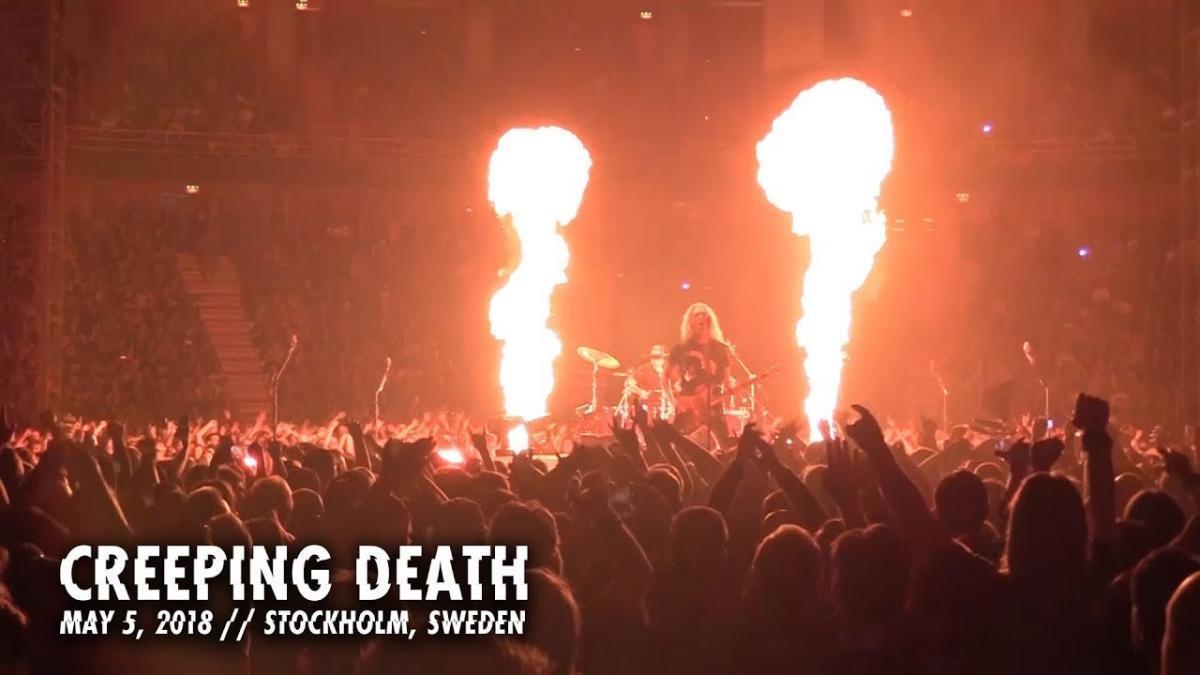 Metallica sort une vidéo live de Creeping Death à Stockholm