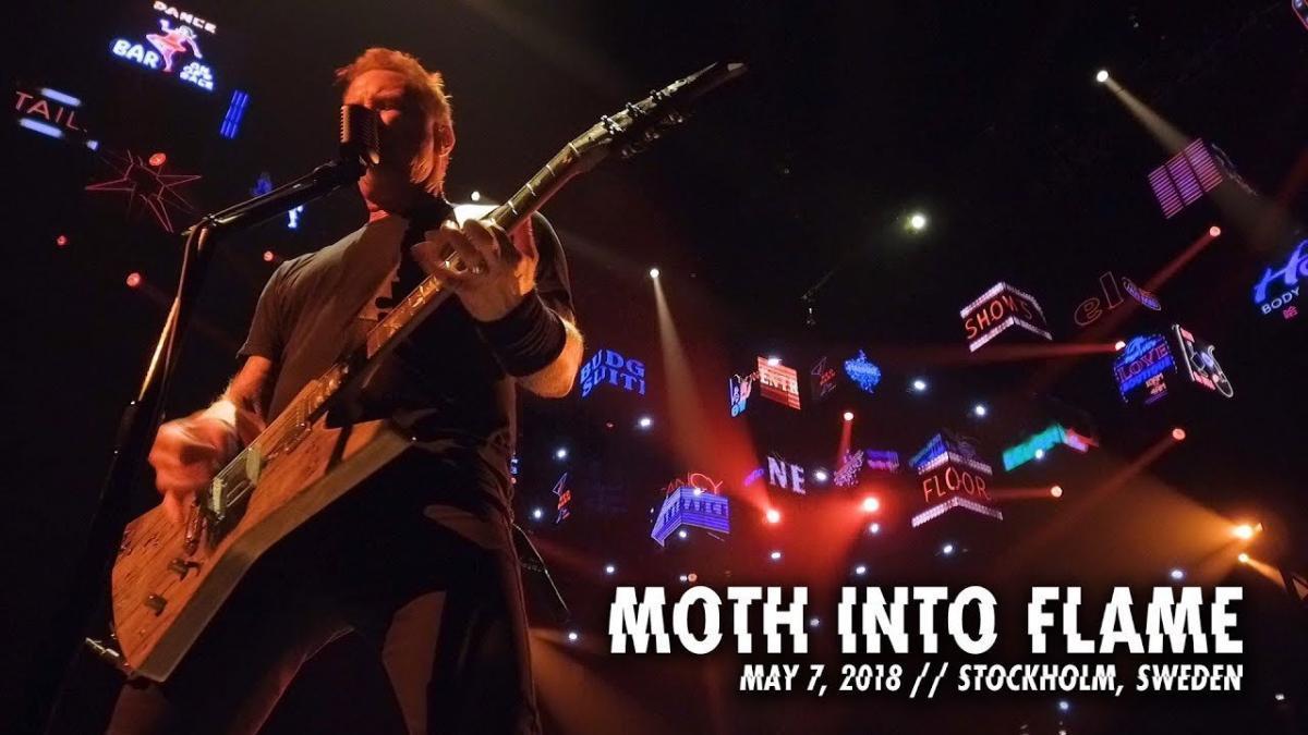 Metallica publie une vidéo live de Moth Into Flame à Stockholm