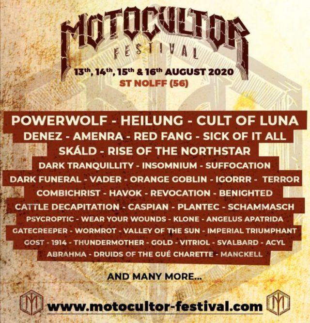 Le Motocultor Festival maintient son édition 2020