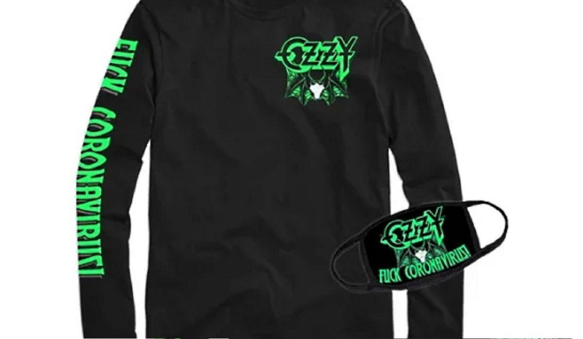 """Ozzy Osbourne vend un t-shirt et un masque en référence à son incident de morsure de chauve-souris : """"F**k Coronavirus"""""""