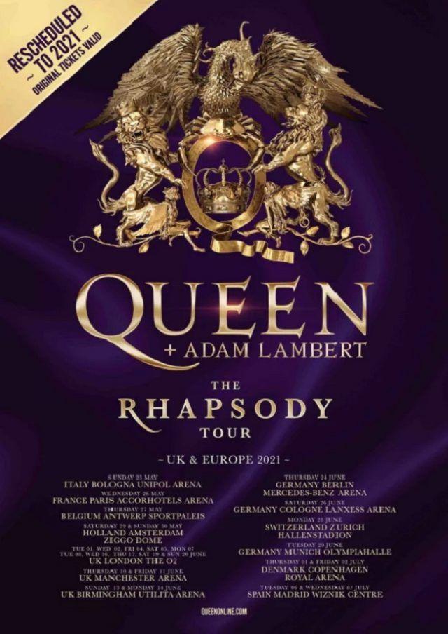 Le concert de Queen & Adam Lambert à Paris a été reporté à l'année prochaine