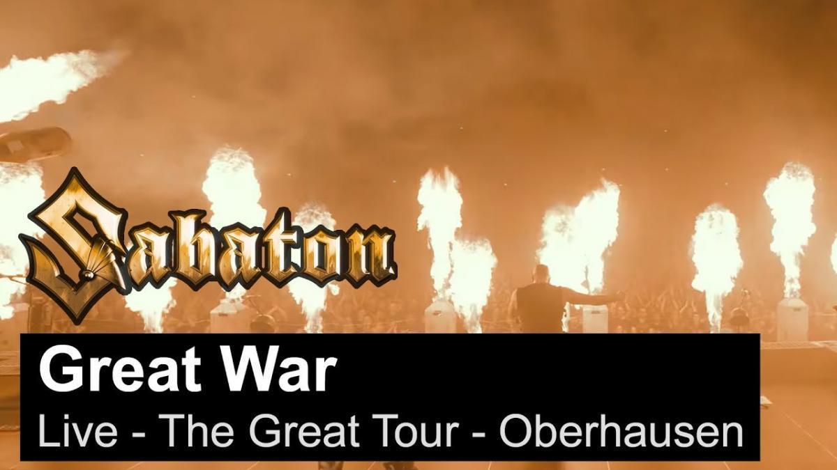 Sabaton sort une vidéo live de Great War à Oberhausen