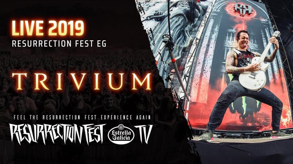 Trivium : Regardez le concert complet du groupe de Metal au Resurrection Fest 2019