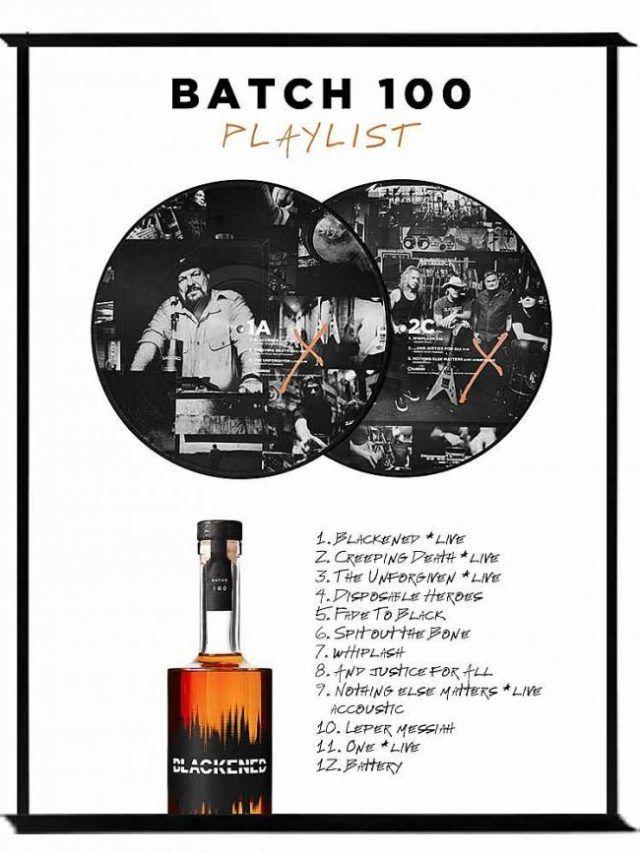 Metallica annonce une version de son whisky Blackened en édition limitée