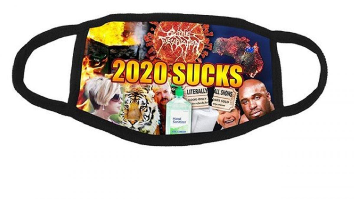 """Cattle Decapitation vend un masque d'une extrême élégance : """"2020 sucks"""""""