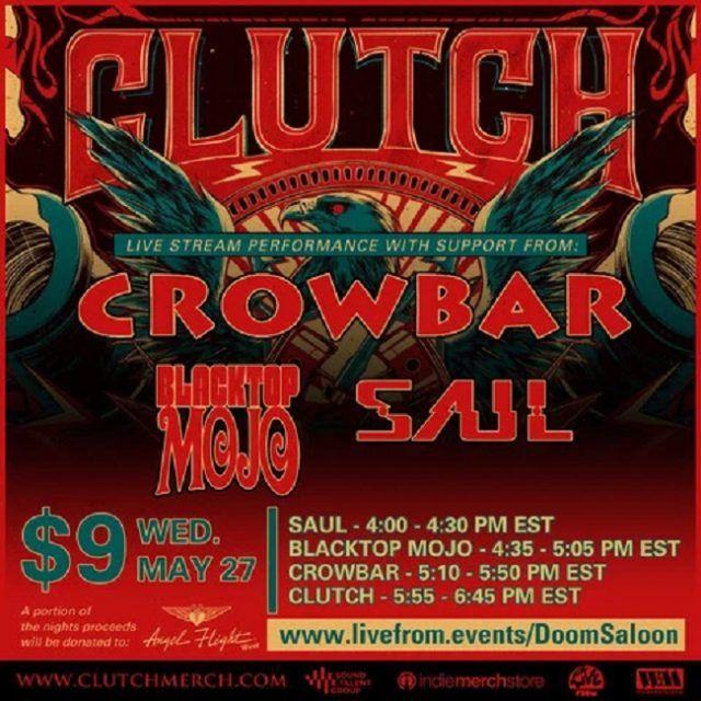 Clutch et Crowbar annoncent un concert virtuel