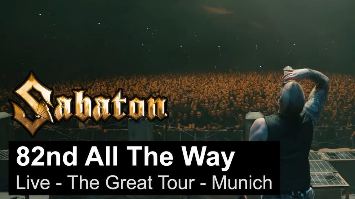 Sabaton sort une vidéo live de 82nd All The Way à Munich